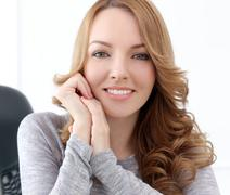 Stock Photo of lifestyle. beautiful woman with cute smile