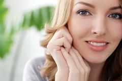 lifestyle. beautiful woman with cute smile - stock photo