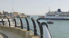 Wightlink ferry in Portsmouth Stock Footage