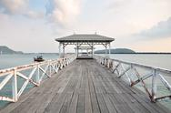 Stock Photo of beautiful old pavilion on sichang island, chonburi province,thailand