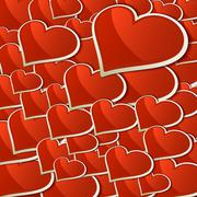 Stock Illustration of Heart for Valentines Day Background. + EPS10