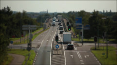 timelaps traffic intersection the Netherlands - stock footage