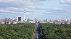 Central region of Berlin from an observation deck Stock Footage