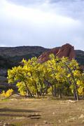 colorado landscapes during fall season. - stock photo