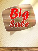 Big sale speech bubble. Stock Illustration
