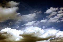 the sky. dramatic gradient - cloudy sky. - stock photo