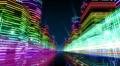 Neon Light City Z1Ab4 4k Footage