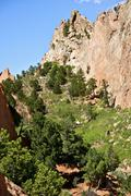 amazing colorado - colorado springs garden of the gods - stock photo