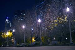 downtown park. millennium park in the heart of chicago - stock photo