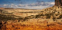 utah landscape - early spring in utah, usa - stock photo