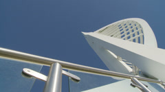Stairway leading to Spinnaker tower Stock Footage