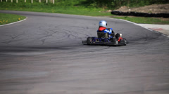 Go-kart in a curve Stock Footage