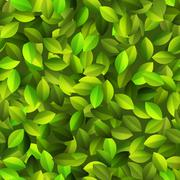 Green leaves Seamless pattern. + EPS10 Stock Illustration
