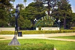 Beverly hills california. beverly hills sign Kuvituskuvat