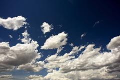 dark blue sky. dark blue summer cloudscape - stock photo