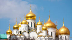 Clouds over  Annunciation Cathedral in the Moscow Kremlin, timelapse Stock Footage