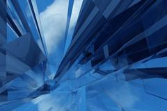 Glass / glassy abstract background Stock Illustration