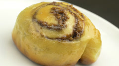 4K Pastry Baked Cocoa Nuts Bun Stock Footage
