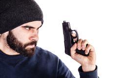 Holding a gun Stock Photos