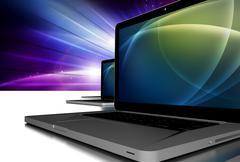 laptop pc computers illustration - stock illustration