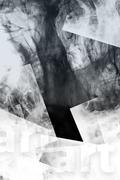 shapes and smoke. abstract creative background - stock illustration