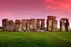 stonehenge - prehistoric monument - stock photo