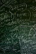 old cracked blackboard background. - stock photo