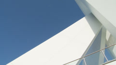 Moving shot of Spinnaker tower Stock Footage