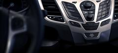 multimedia car dash panoramic photography - stock photo
