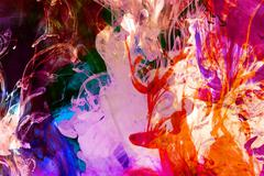 Colorful fluid fusion background. Stock Illustration