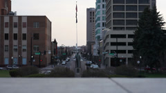 Downtown Boise facing South Stock Footage