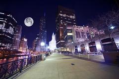 Stock Photo of chicago famous riverwalk - chicago riverwalk