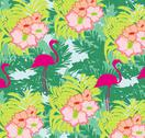 Seamless flamingo bird pattern Stock Illustration