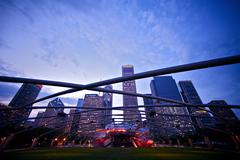 Millennium park amphitheater Stock Photos