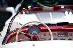 oldtimer convertible dash - cool american 50s oldtimer - stock photo