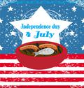 4th of july background, independence day Stock Illustration