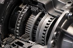 Modern automatic car transmission Stock Photos