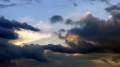 Beautiful Clouds in a Sunset - stock footage