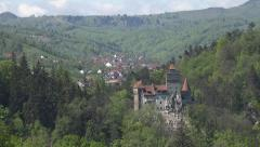 Ultra HD 4K Dracula Castle Ancient Monument in Romania, Vlad Impaler Landmark Stock Footage