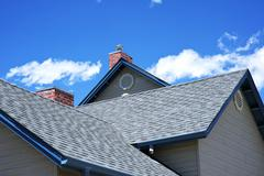 Stock Photo of house roof - roofing works