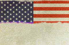 usa flag with removed part - stock illustration