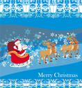 Santa claus and reindeer - abstract christmas card Stock Illustration
