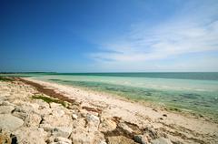 bahia honda. most popular beach on the florida keys - stock photo