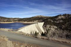 gross dam colorado - stock photo