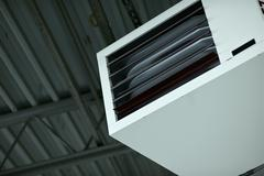 heavy duty air condition in the warehouse - stock photo