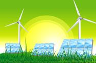 Stock Illustration of green power - green energy illustration.