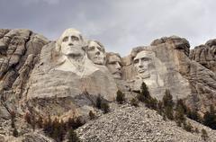 Mount rushmore national memorial. Stock Photos