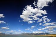 Stock Photo of colorado landscape with lake and mountains.