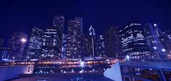 skyline chicago cityscape. chicago downtown - stock photo