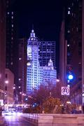 chicago michigan ave. chicago illinois usa. - stock photo